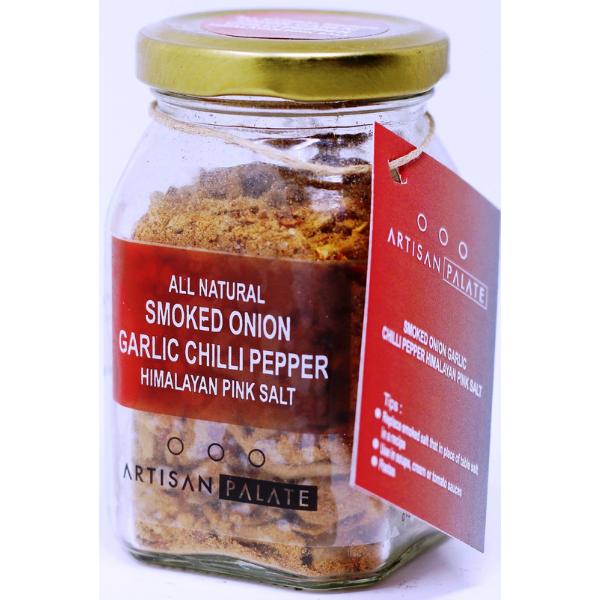 All Natural Smoked Onion Garlic Chilli Pepper Himalayan Pink Salt