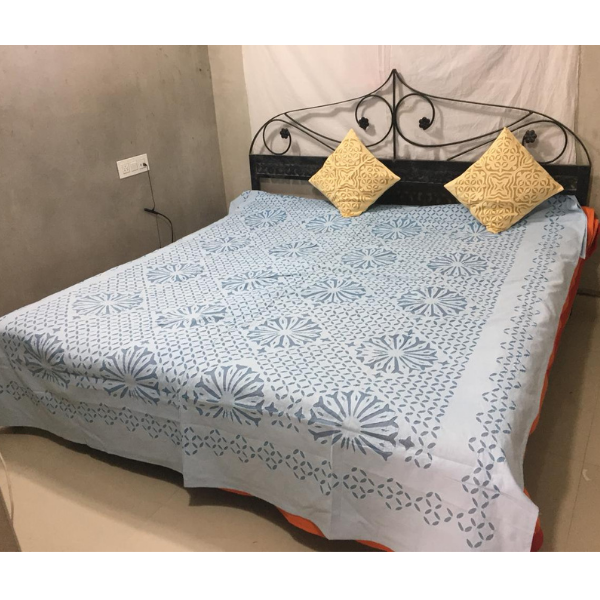 Applique work bed cover