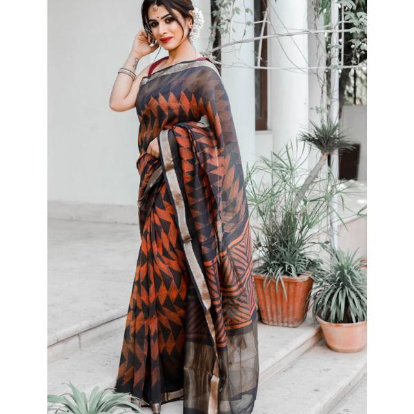 Authentic Chanderi Silk Saree