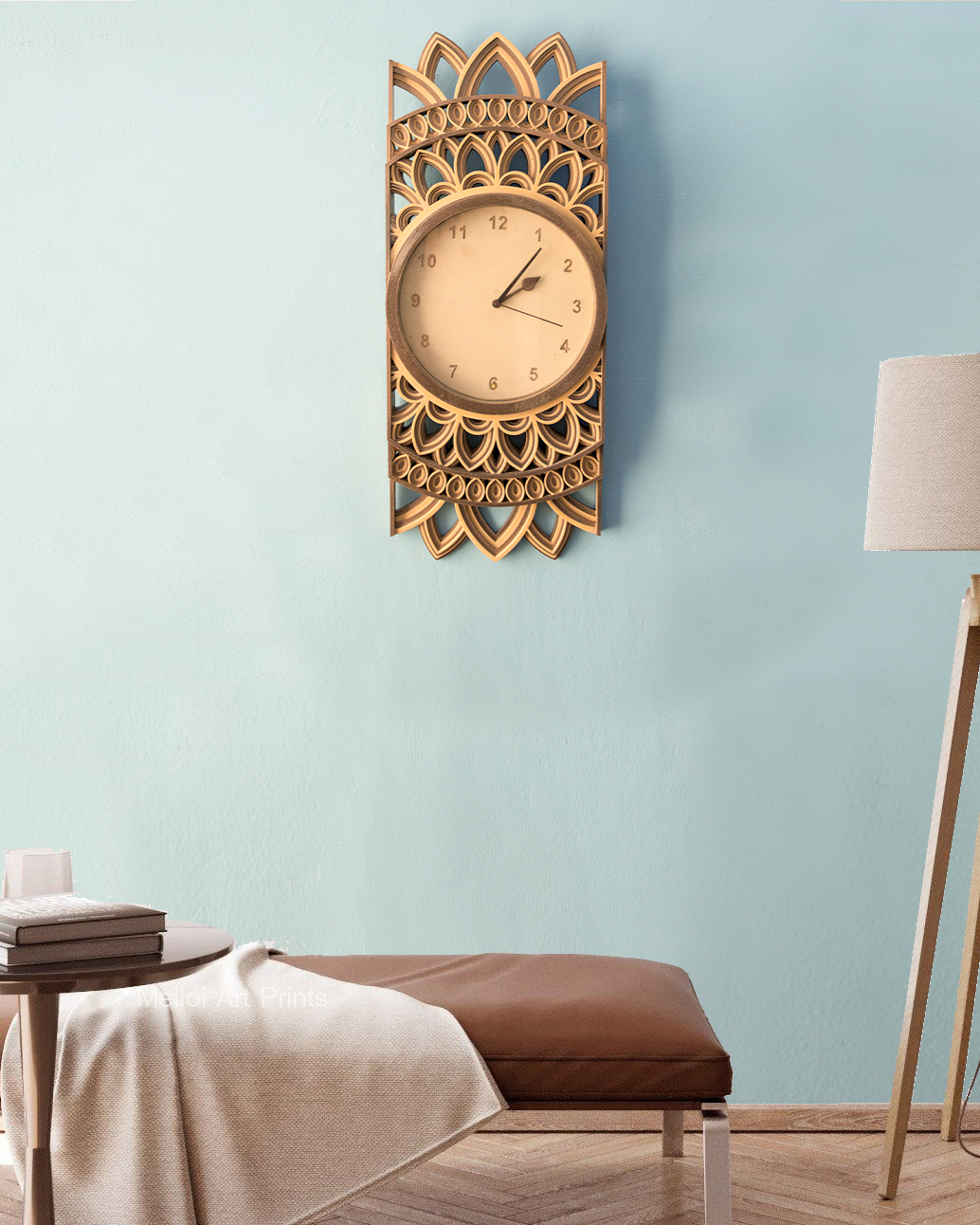 Avadhi #2 - Wall Clock Art
