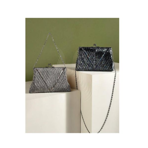 BLACK & GREY GLITTERATI BAGS(B7,B6)