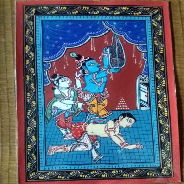 Baal Krishna Pattachitra Painting