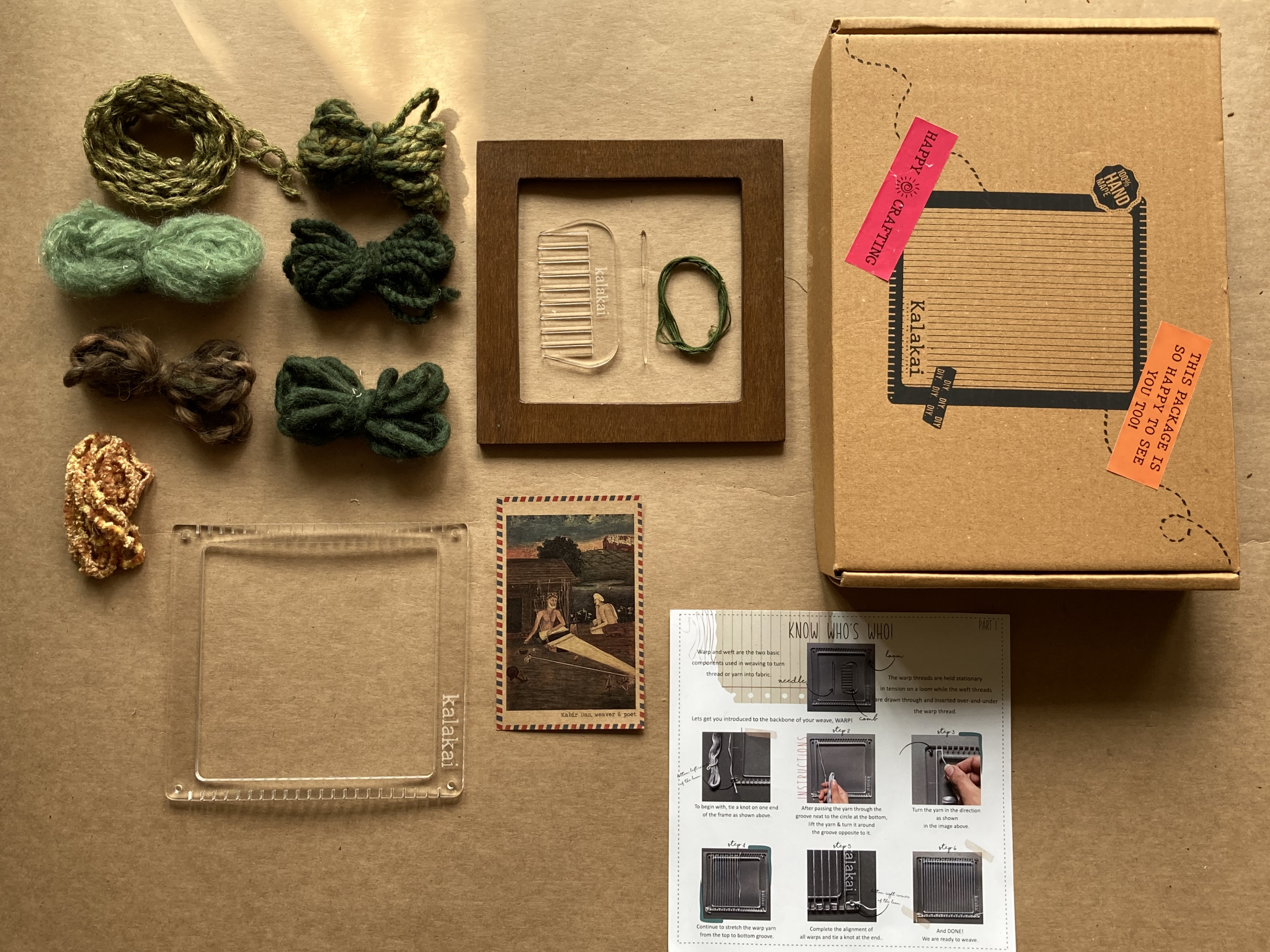 Bagh weaving DIY kit | Square