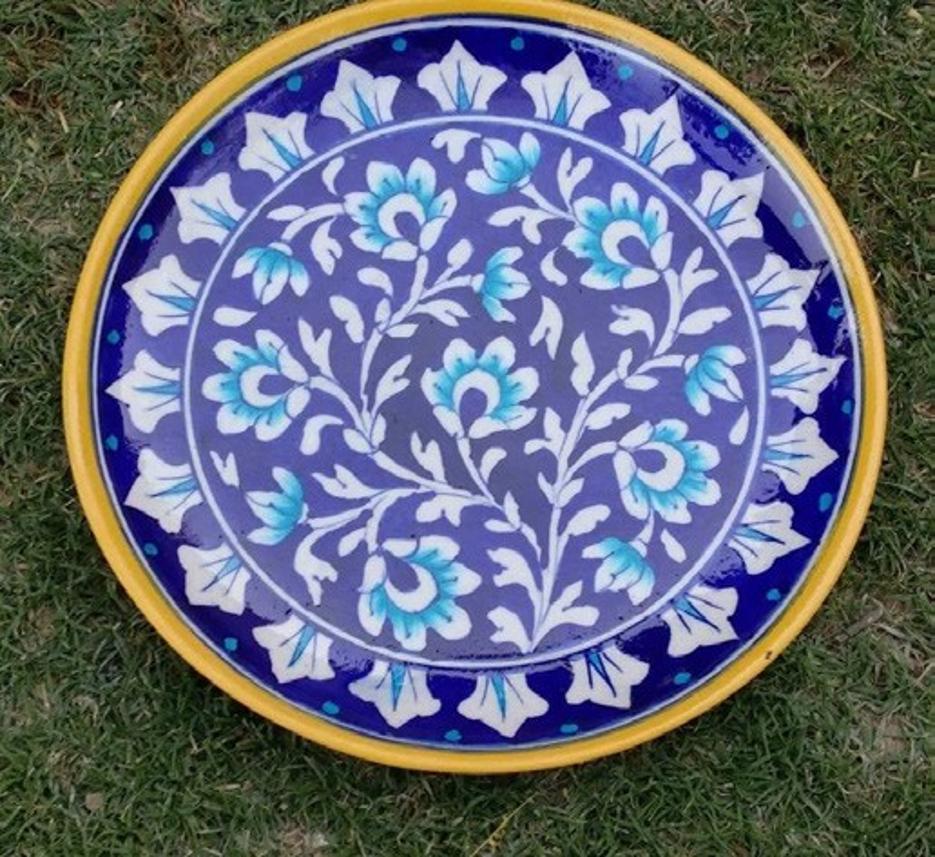 Blue Pottery Decorative Platters