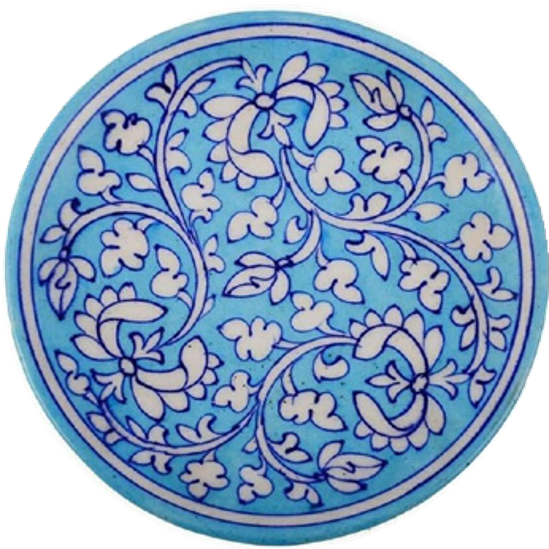Blue Pottery Decorative Platter