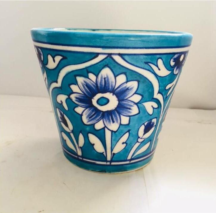 Blue Pottery Planters