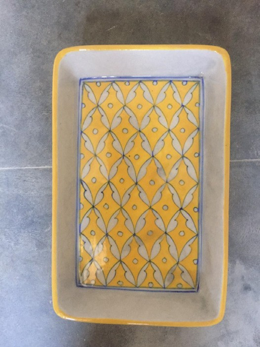 Blue Pottery Serving Trays