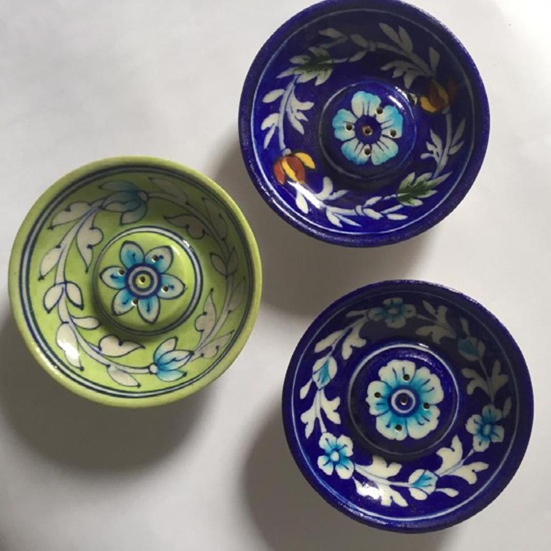 Blue Pottery incense stick holder