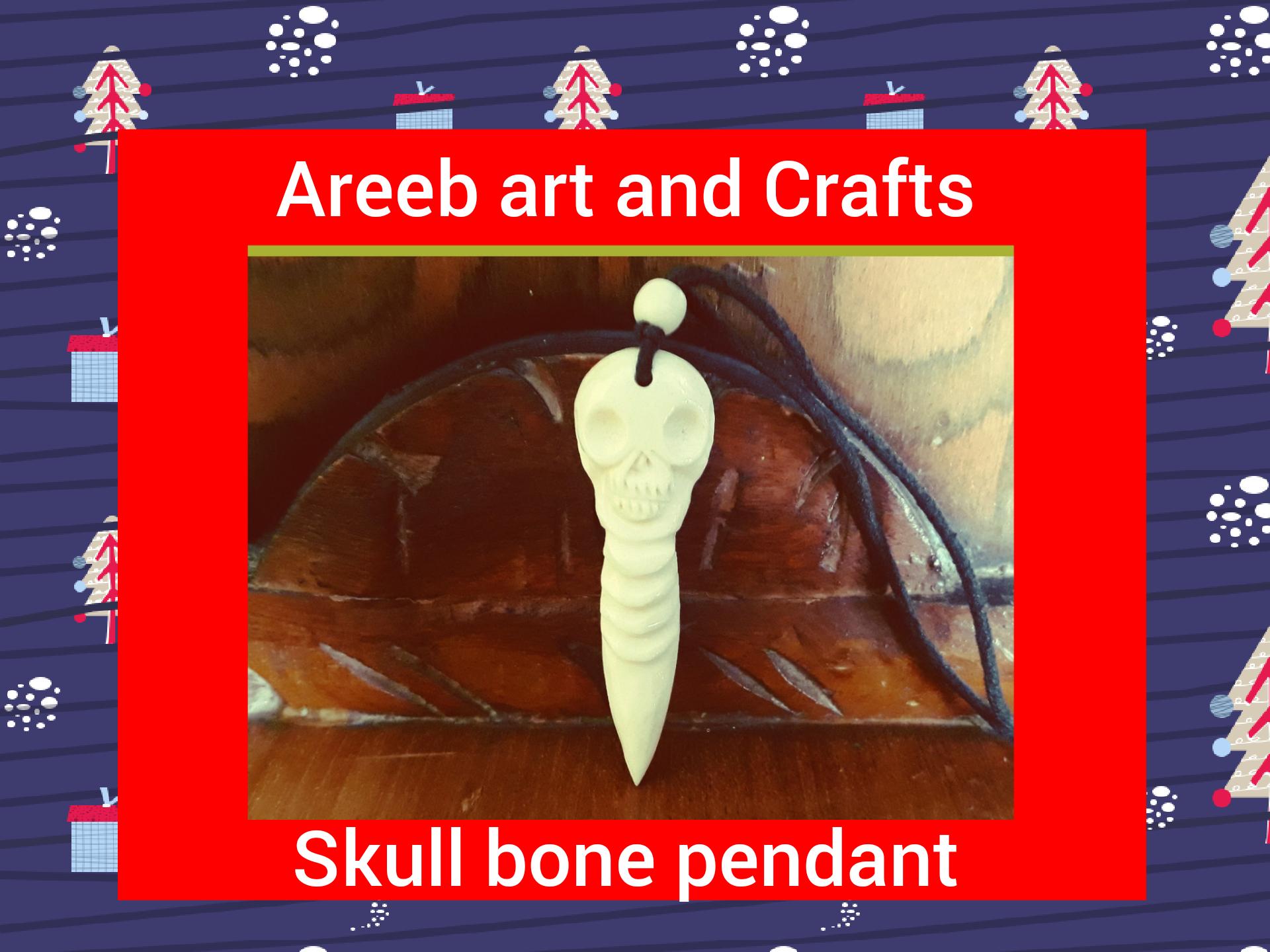 Bone sukll pendant