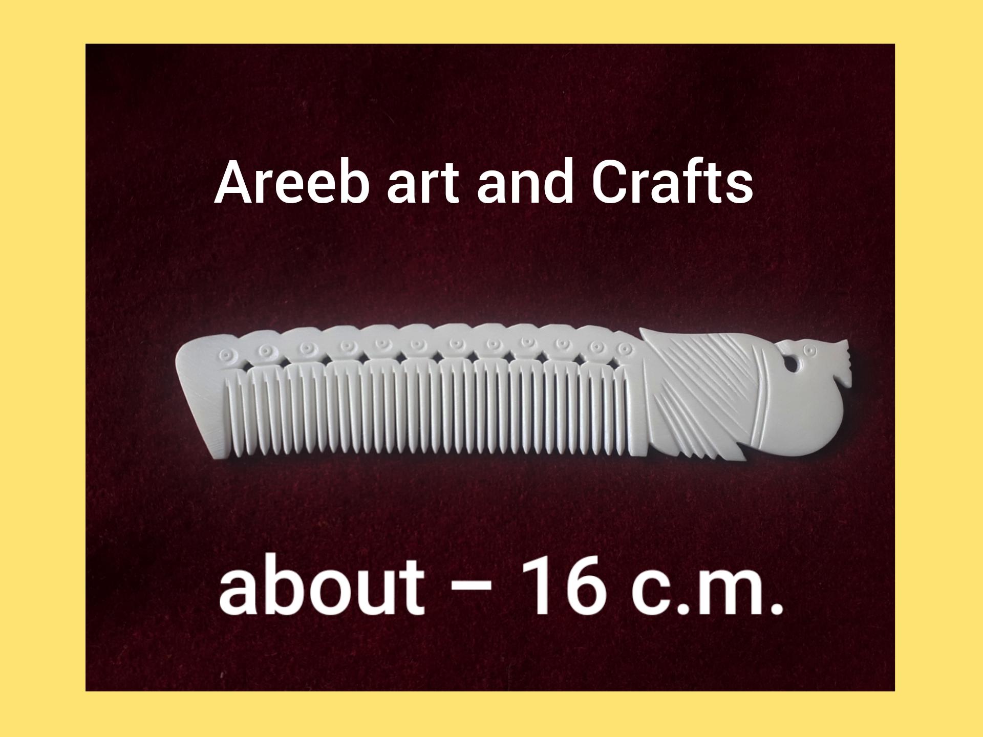 Bone viking carving comb