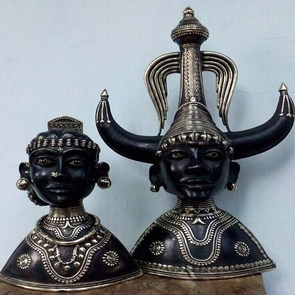 Busts of Tribal Pair