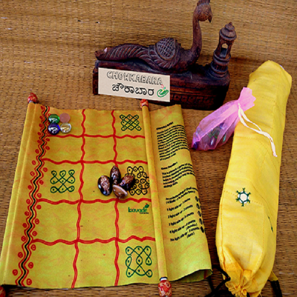 Chowkabara 5x5 game set (Kolam Series scroll)