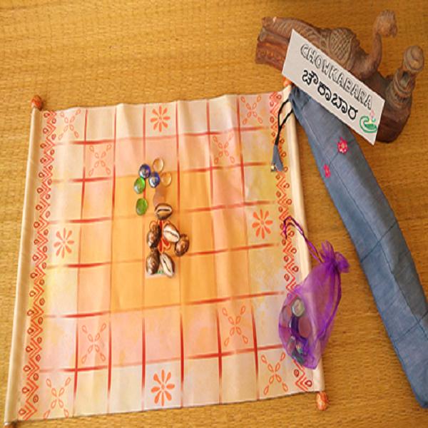Chowkabara 7X7 game set (Kolam Series scroll)