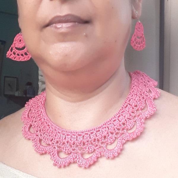 Crochet Jewelry Set