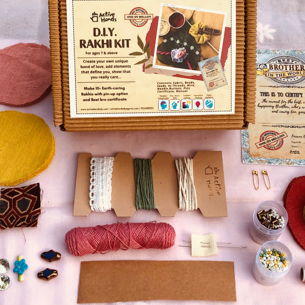 D.I.Y. RAKHI KIT make Eco handcrafted Rakhis in 10 different styles