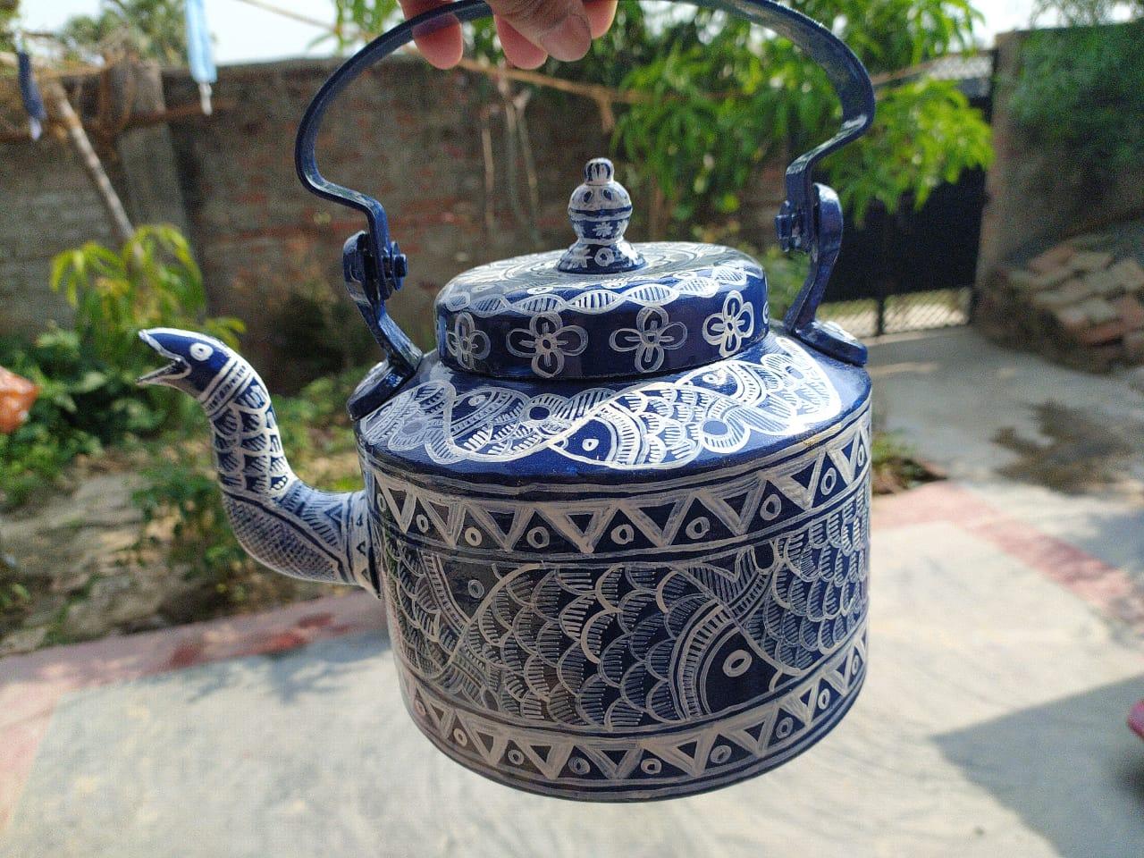 Decorative Teapot with Madhubani artwork