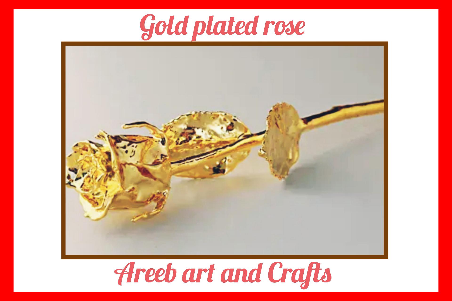 Dipped 24k gold rose
