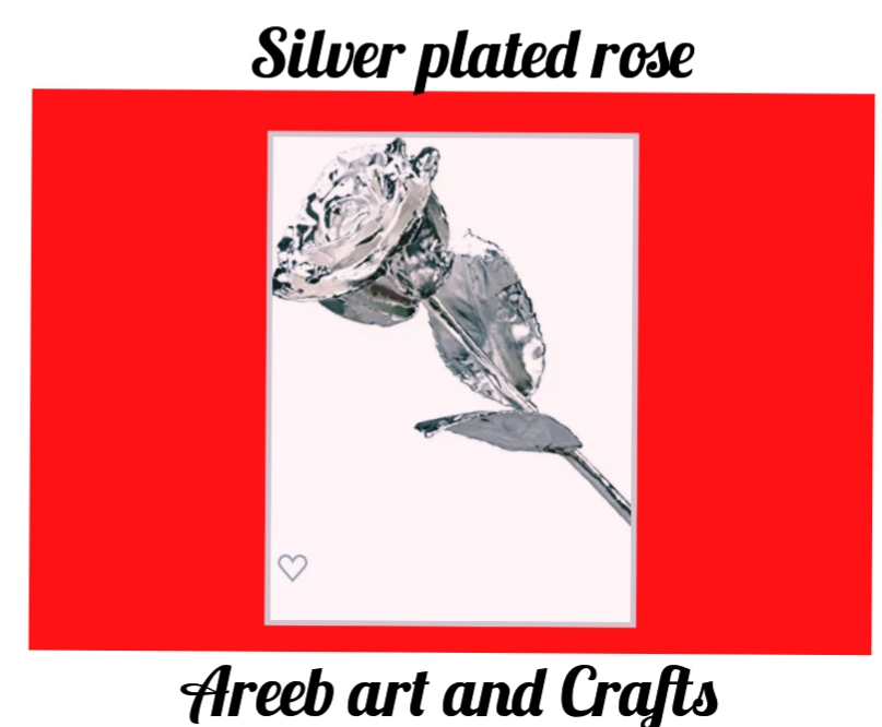Dipped silver rose