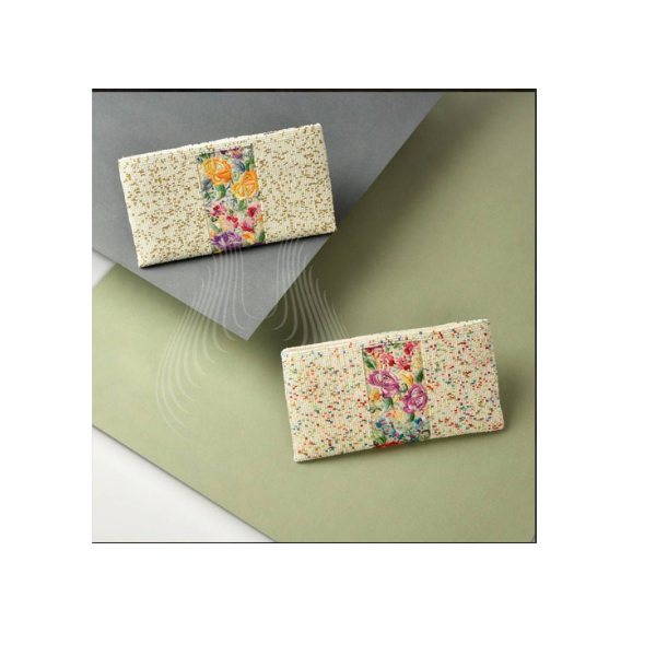 Double roses vintage kor with flecked cream beads pouch(SP6,SP5)