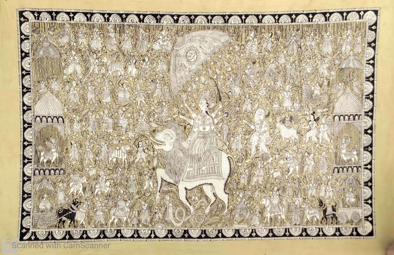 Durga Mata Wall Hanging (Kalamkari)