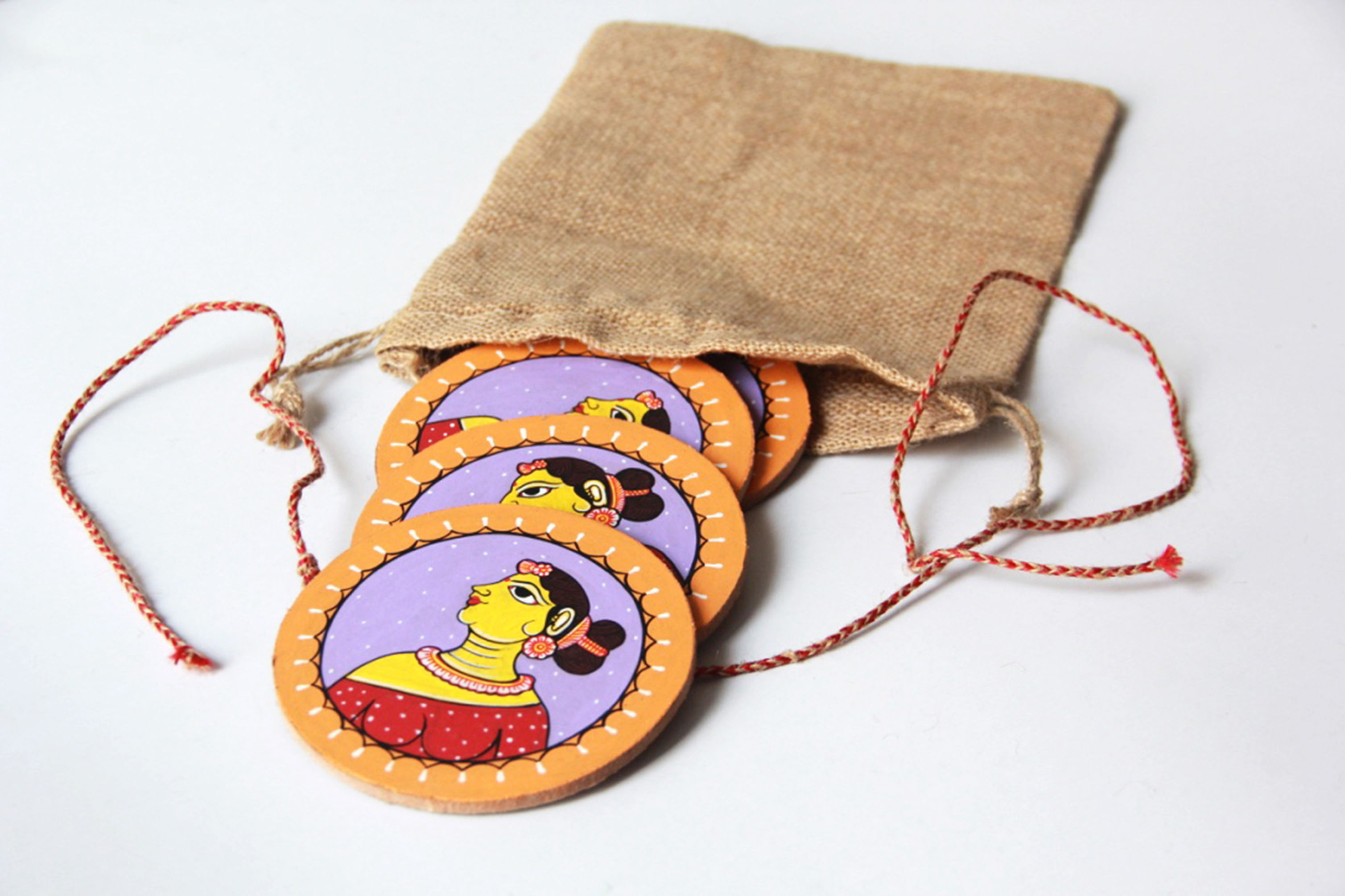 Face of Culture: Pattachitra Handmade Coaster (Set of 4)
