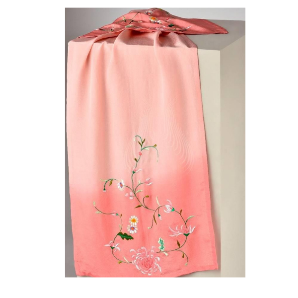 GARA NATURE EMBROIDERY ON PINK(st20)