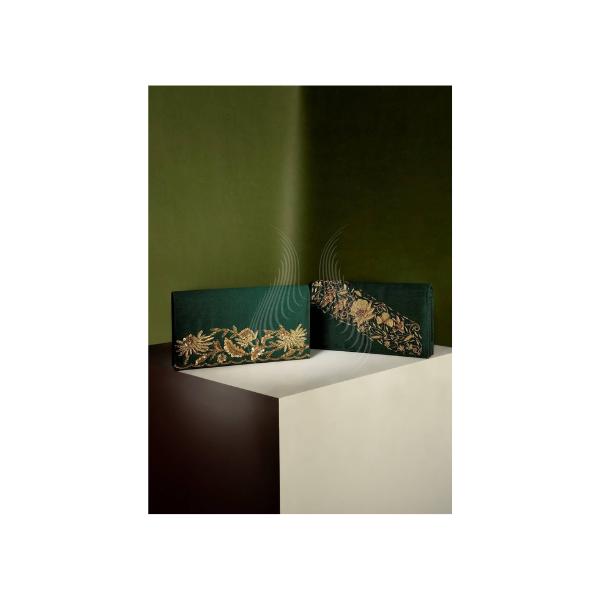 GREEN ALLURE ZARDOZI CLUTCH (Z5,Z6)