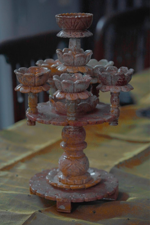 Gaura Stone Candle Holder