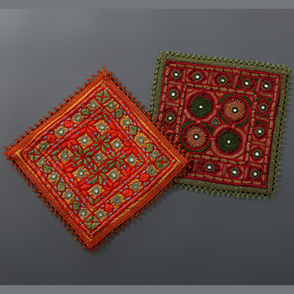 Hand Embroidered Rabari Table mats- set of 2