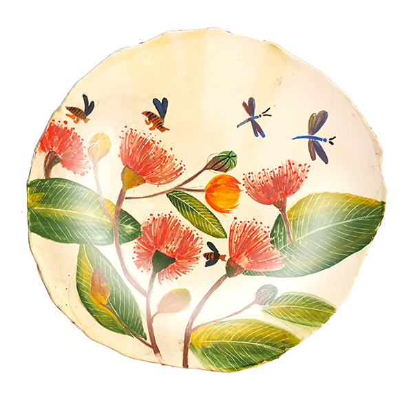 Hand Painted Ceramic Platters- Decor and Serve ware