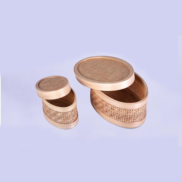 Handcrafted Bamboo Multipurpose Oval Container