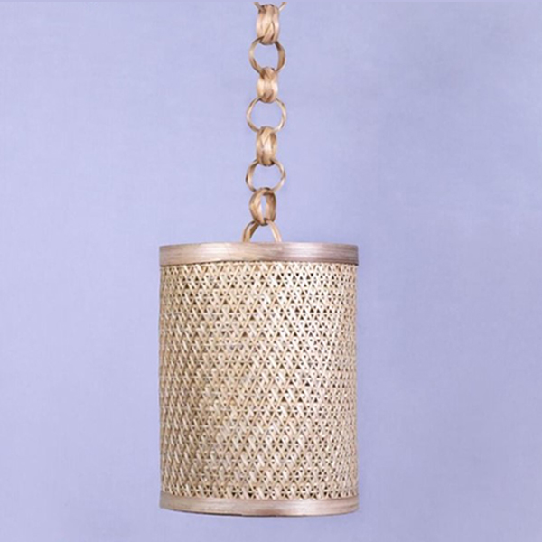 Handcrafted Bamboo Pineapple Hanging Lamp