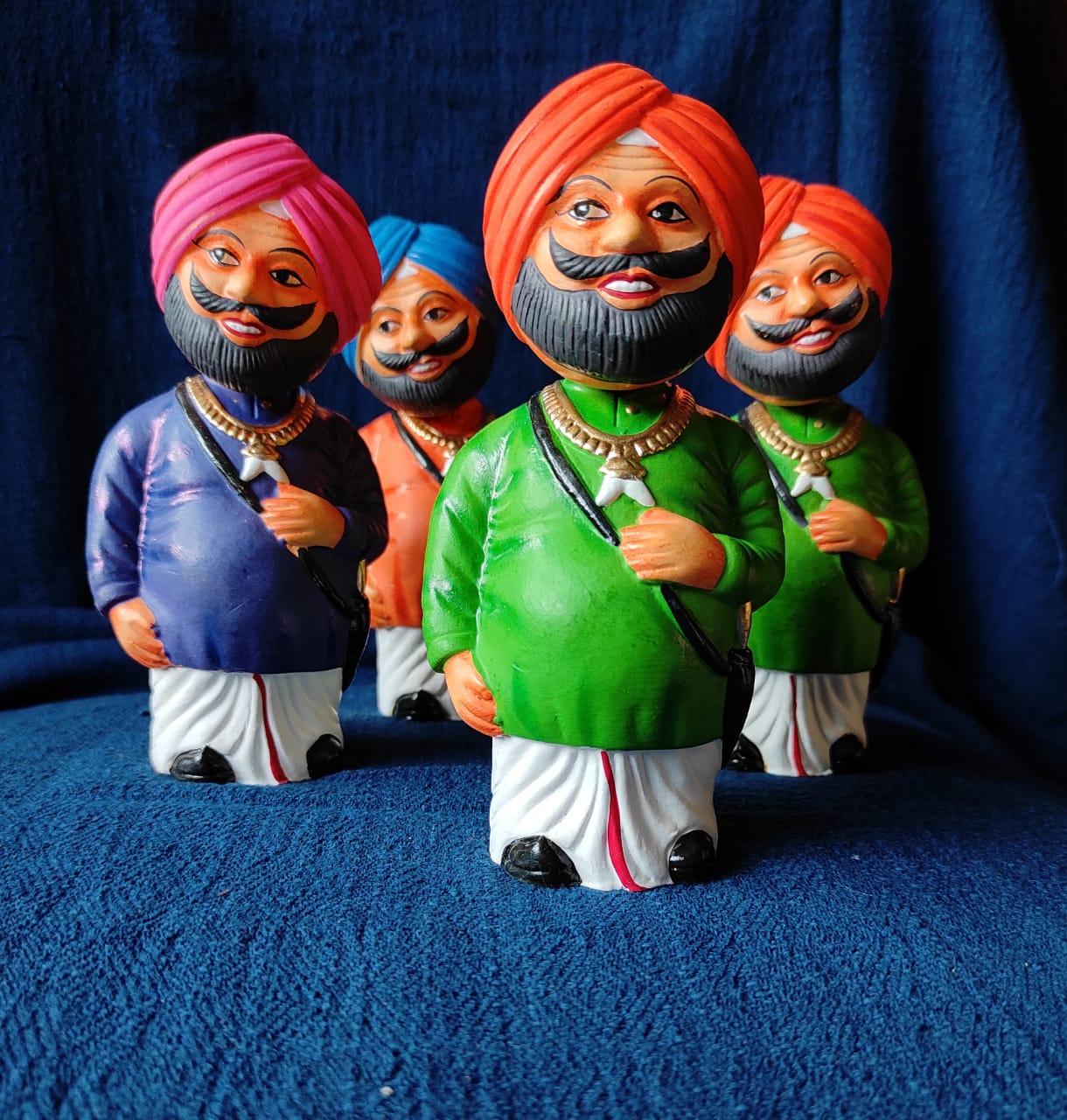 Handcrafted Bobble Head - Sardarji