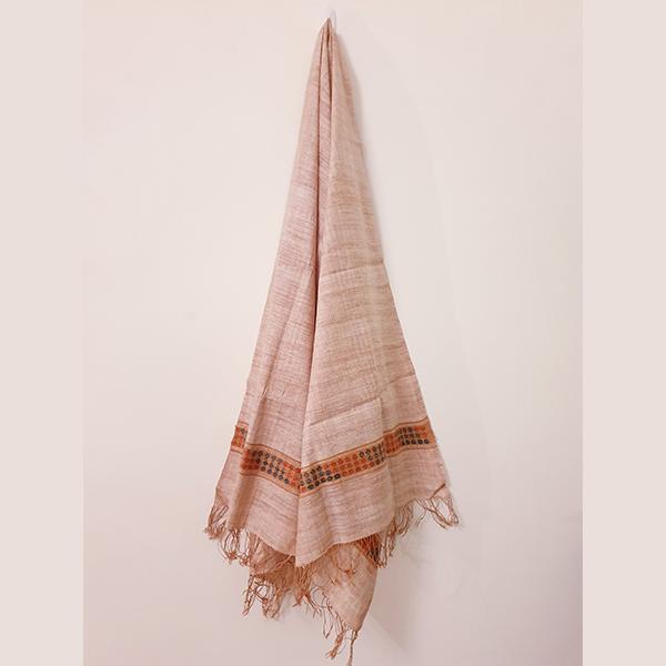 Handcrafted Indian Madder Eri Silk Stole