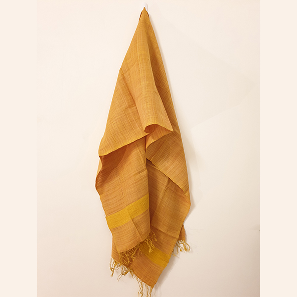 Handcrafted Turmeric Yellow Eri silk stole