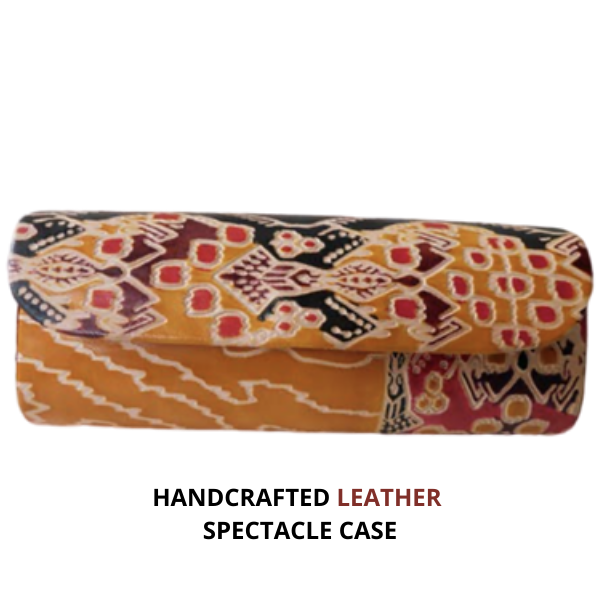 Handcrafted leather spectacle case