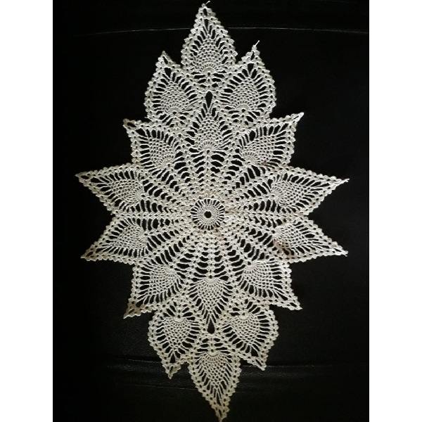 Handmade Cotton Thread Diamond Doily