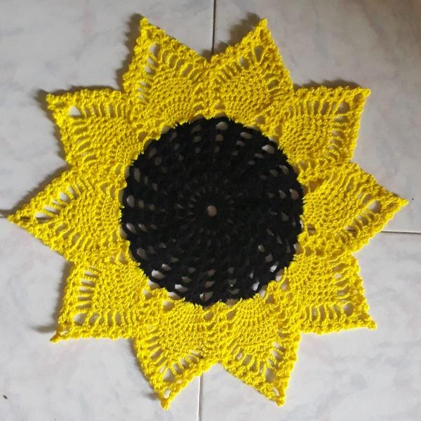 Handmade Crochet Sunflower Doily