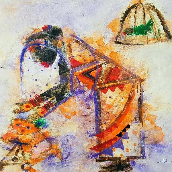 Handmade Krishna Painting