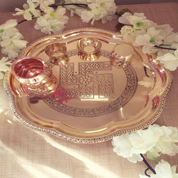 Handmade Pooja Thali Oct