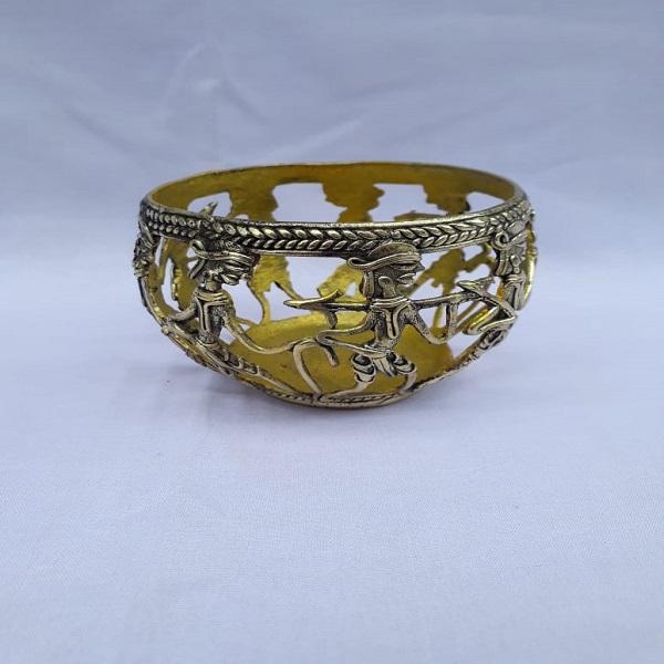 Handmade metal bowl