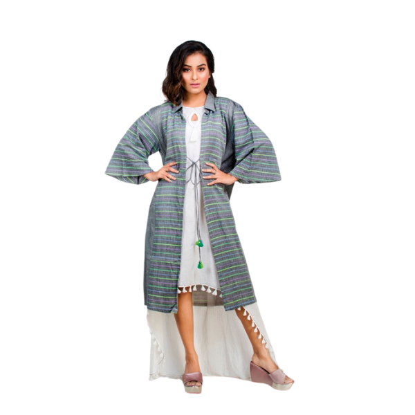 Handwoven Kantha textured shrug