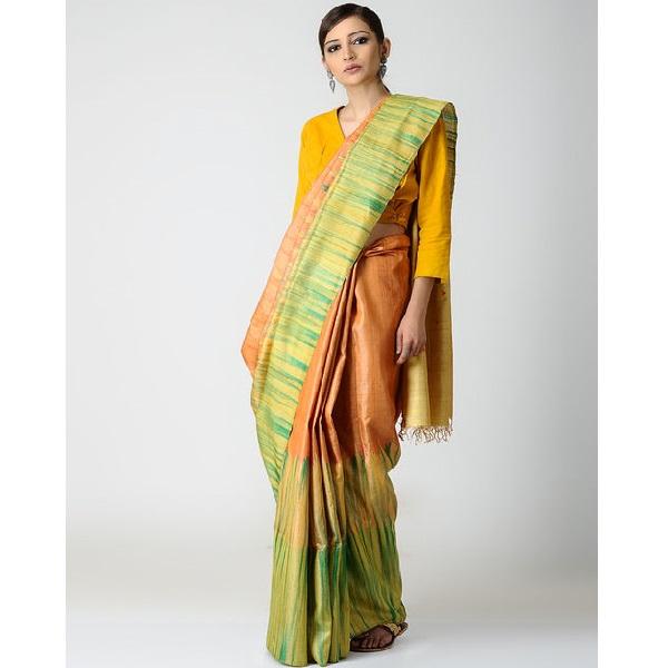 Handwoven Tussar Cotton Saree