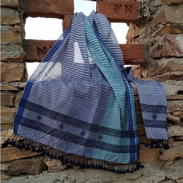Handwoven cotton stole