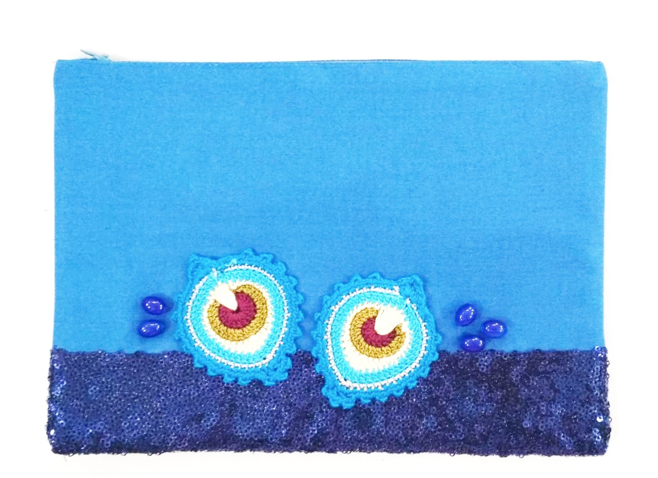 Happy Threads Blingy Storage Pouch (DARK BLUE)