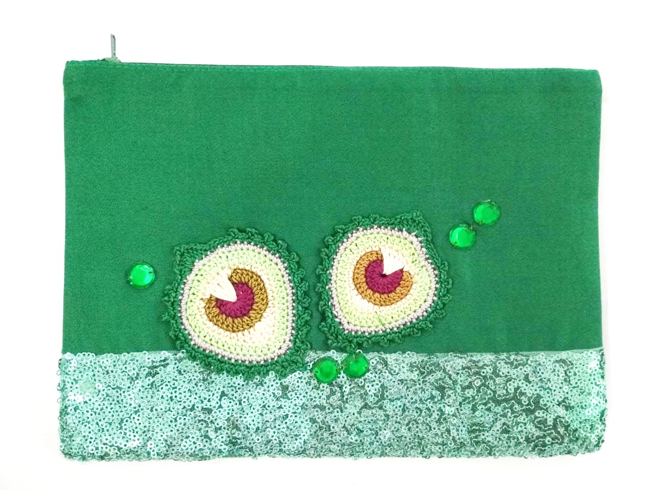 Happy Threads Blingy Storage Pouch (GREEN)