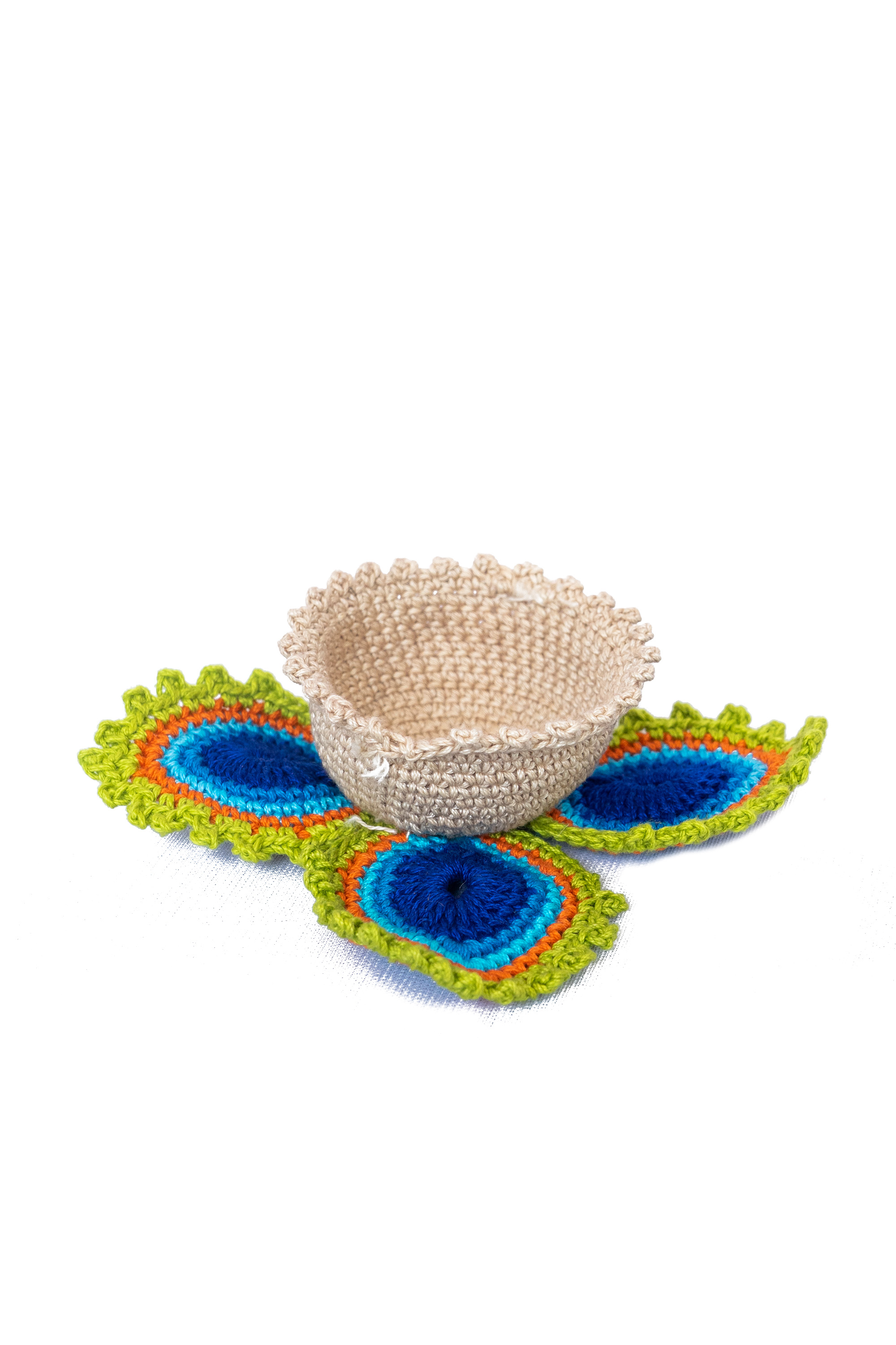 Happy Threads Crochet Tealight Holders for Home -5
