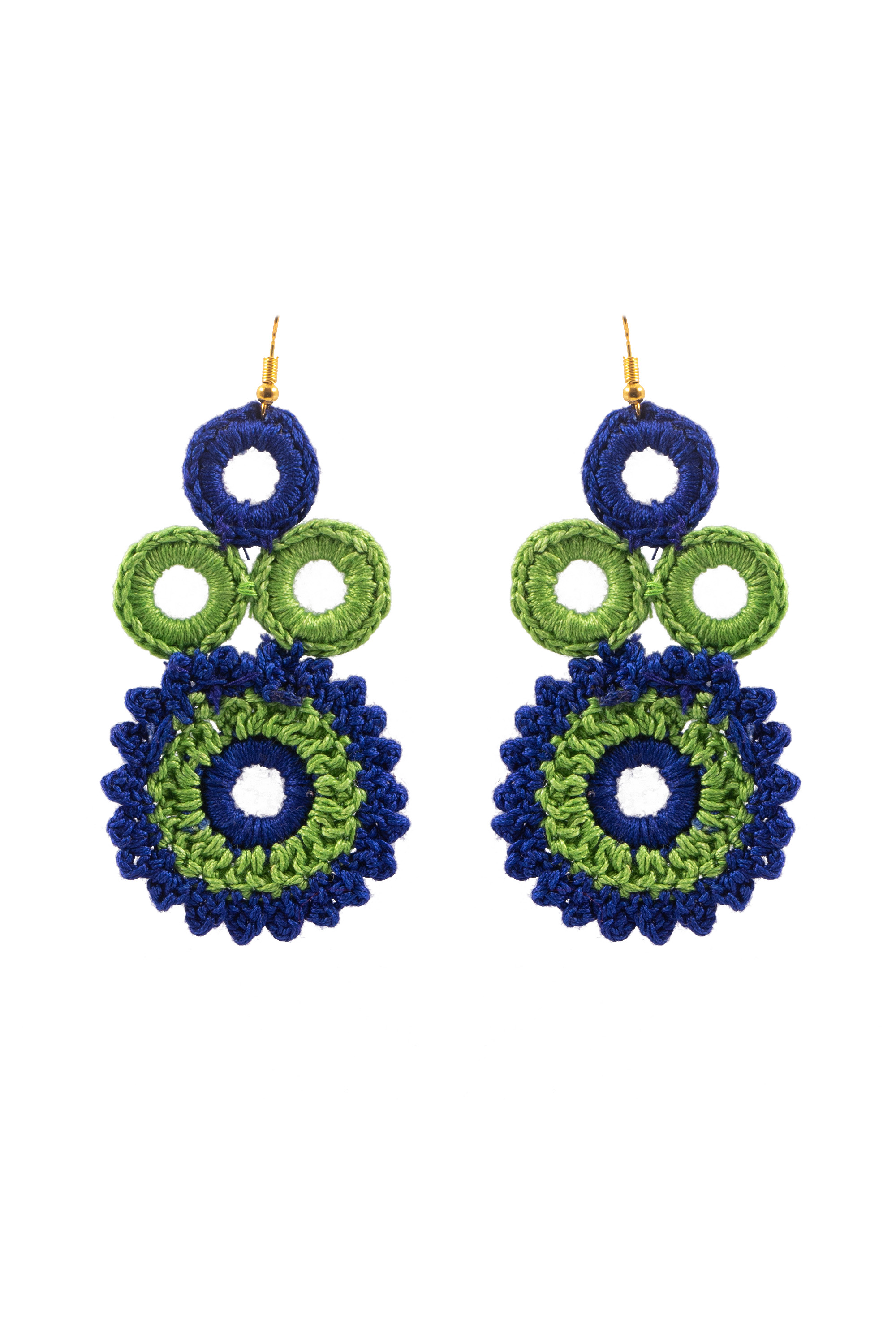 Happy Threads Floral Crochet Earrings- Muticolour