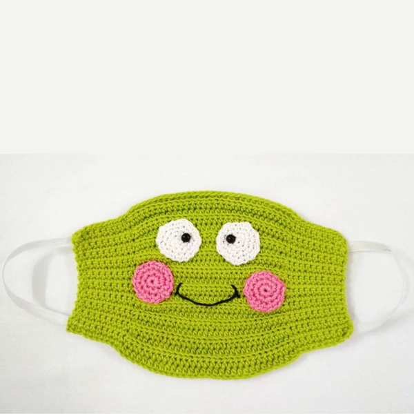 Happy Threads Kids Handmade Crochet Masks (Olive Green)