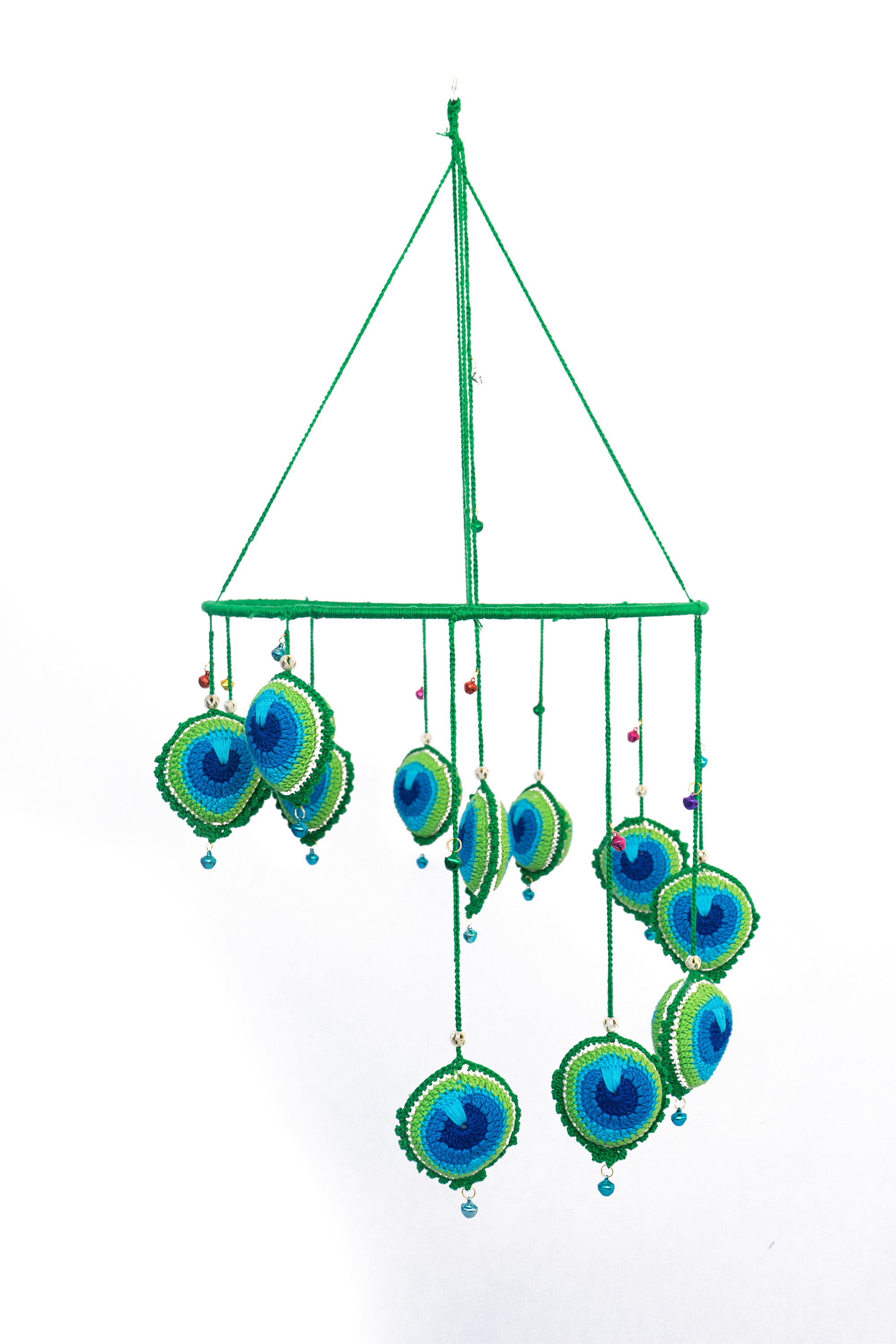 Happy Threads Peacock themed Wind Chimes for Home